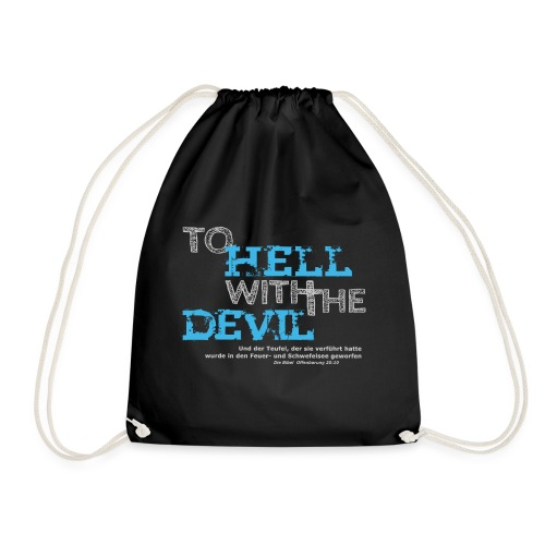 to hell with the devil blau - Turnbeutel