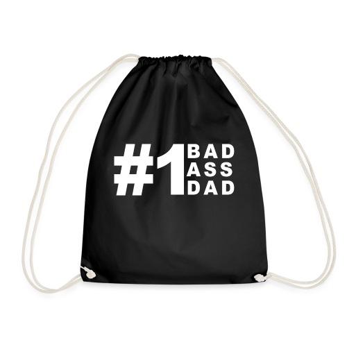 #1 Bad Ass Dad - Drawstring Bag