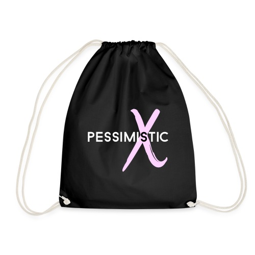 pessimistic - Drawstring Bag