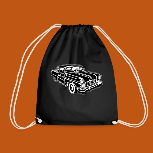 Chevy Cadilac / Muscle Car 02_schwarz weiß - Turnbeutel