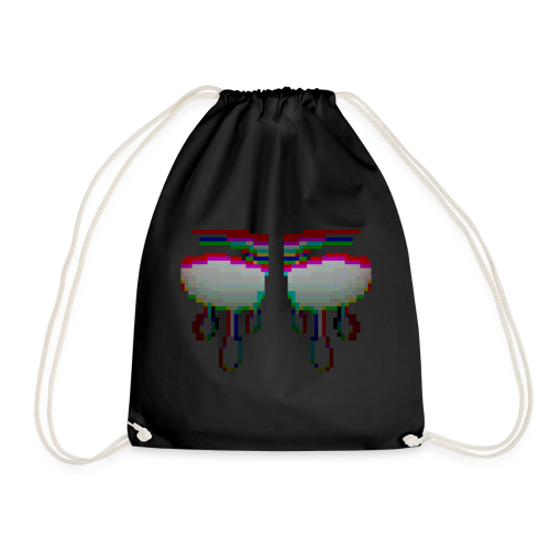 Glitchy TV Eyes - Drawstring Bag