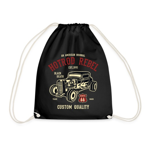 Hot Rod Rebel - Drawstring Bag