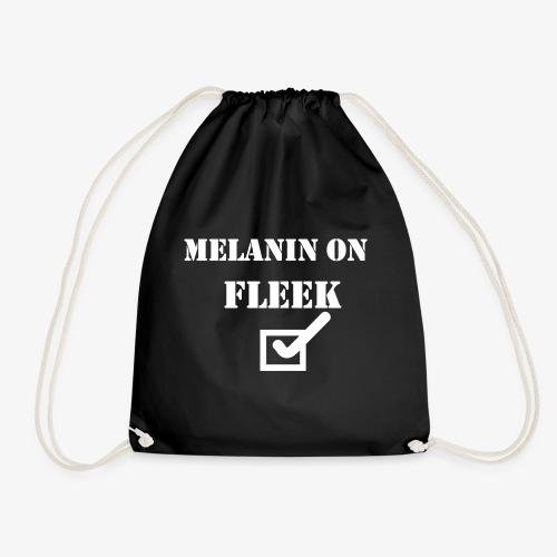 MELANIN ON FLEEK - Drawstring Bag