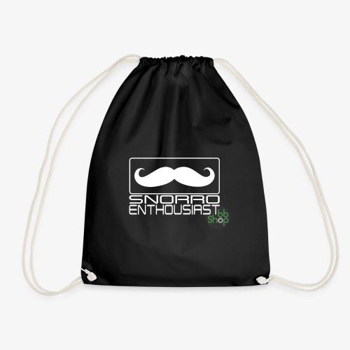 Snorro enthusiastic (white) - Drawstring Bag