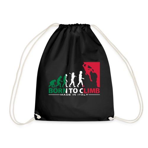 ROCK CLIMBING EVOLUTION BORN TO CLIMB ITALY - Drawstring Bag