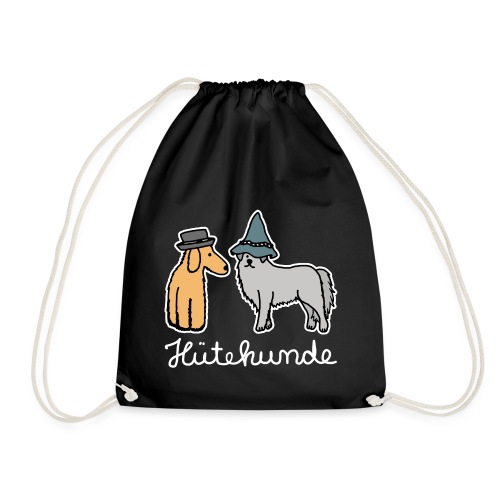 Hütehunde Hunde mit Hut Huetehund - Turnbeutel