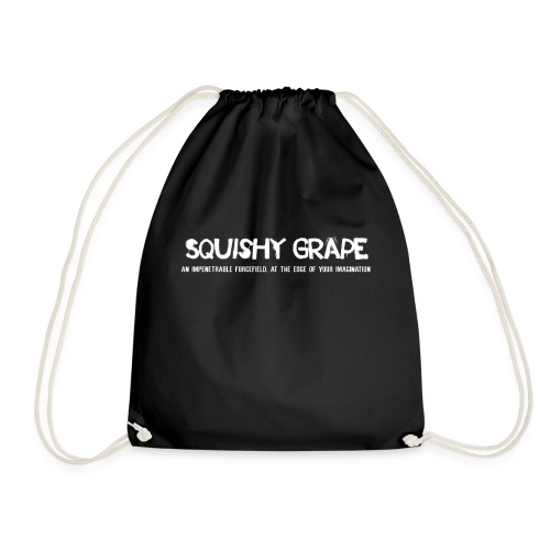 Squishy Grape: An Impenetrable Forcefield - Drawstring Bag