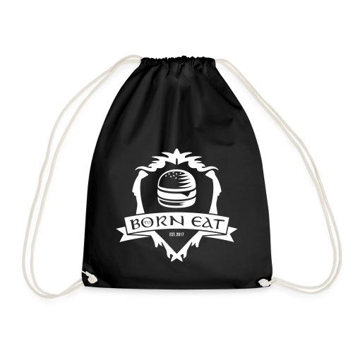 Born To Eat Logo white - Turnbeutel