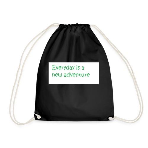 Everyday is A new adventure inspirational logo - Drawstring Bag