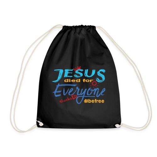 Jesus died for Everyone blau - Turnbeutel