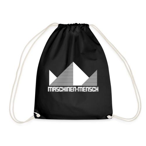 Maschinen-Mensch Logo black - Turnbeutel