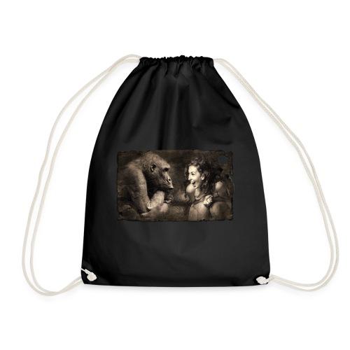 Girl & Monkey - Drawstring Bag
