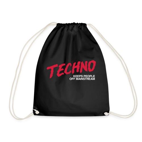 Techno music - Drawstring Bag