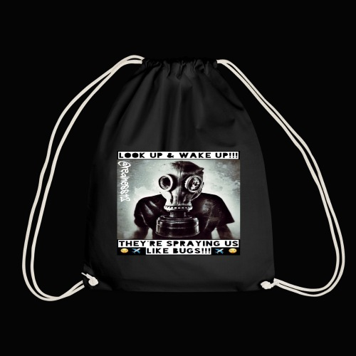 Sprayed Like Bugs!! Truth T-Shirts!! #WeatherWars - Drawstring Bag