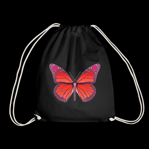D28 monarch butterfly red lajarindream 4500px - Mochila saco