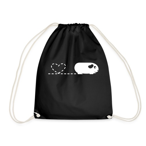 Pooping Heart Guinea Pig - Drawstring Bag