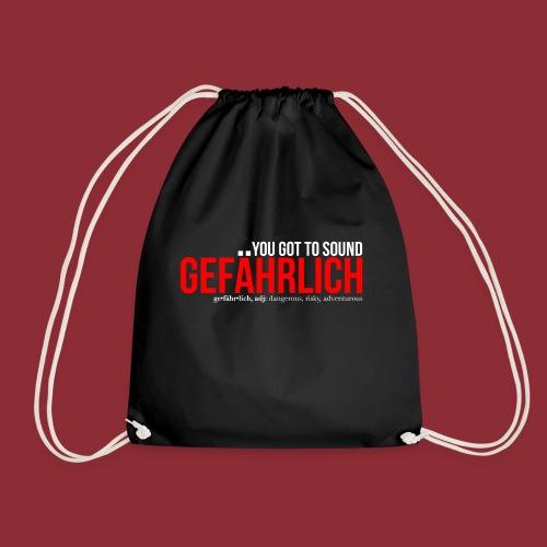 Gefährlich red - Drawstring Bag