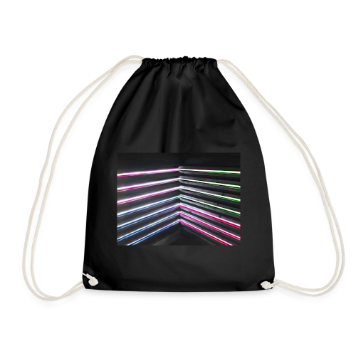 Neon rhombus - Drawstring Bag