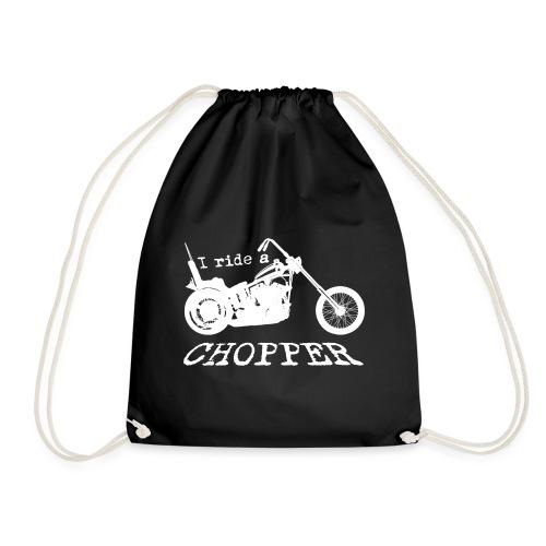 I ride a chopper - hvid - Sportstaske