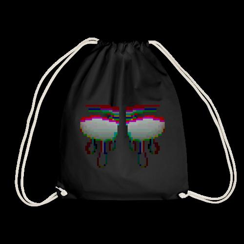 Glitchy TV Eyes - Drawstring Bag