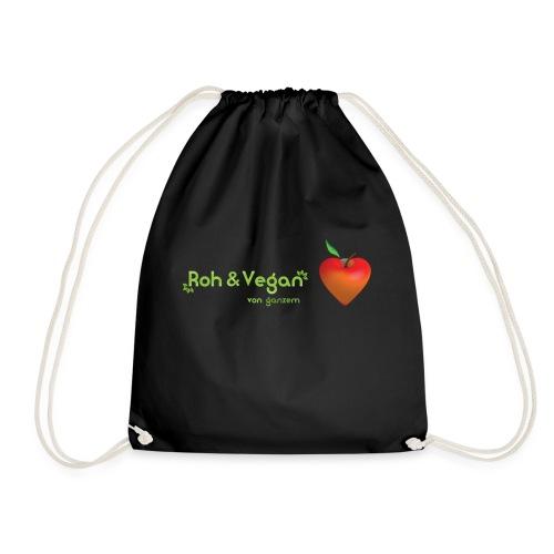 Roh & Vegan rotes Apfelherz (Rohkost) - Turnbeutel