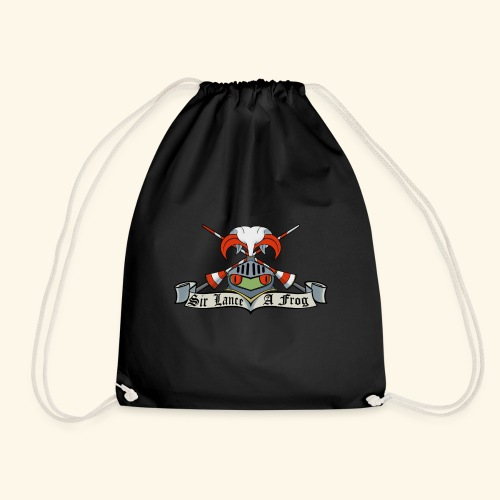 Sir Lance-a-frog Coat of Arms - Drawstring Bag