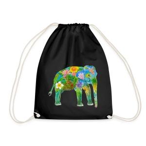 Asiatischer Elefant - Turnbeutel