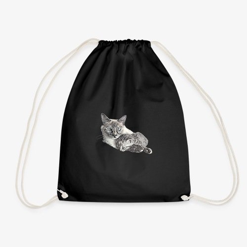 Snow and her baby - Drawstring Bag
