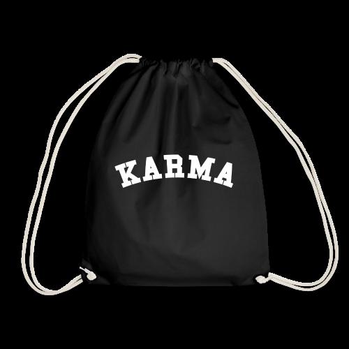 Karma Motiv Schriftzug College Rot Geschenk Weiß - Turnbeutel
