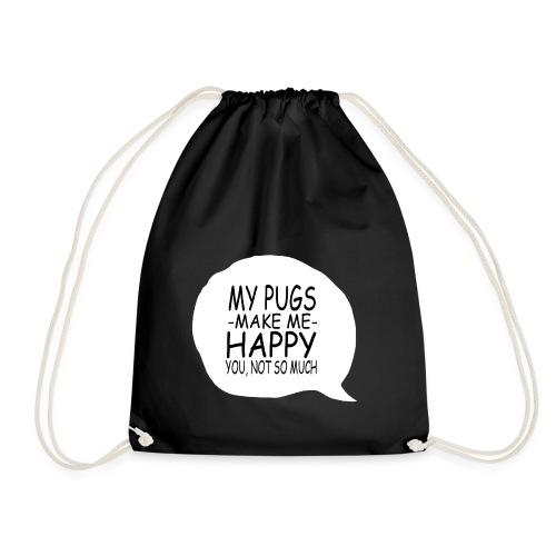 my pugs makes me happy copy - Sac de sport léger