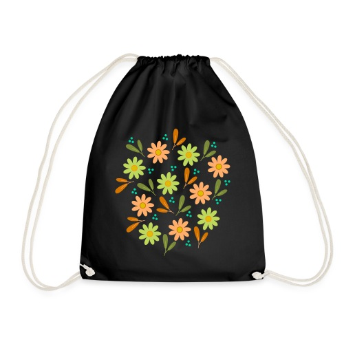 Blumen Muster - Turnbeutel