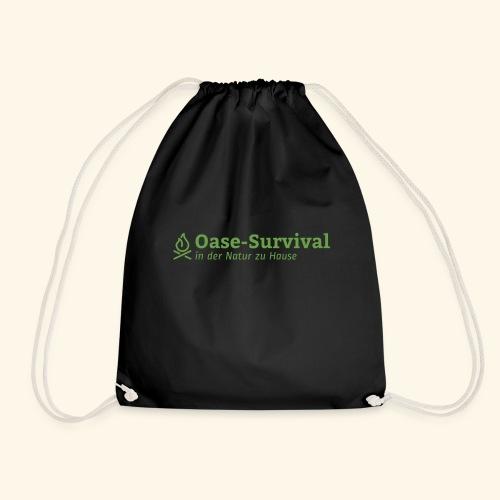 Oase-Survival Logo grün - Turnbeutel