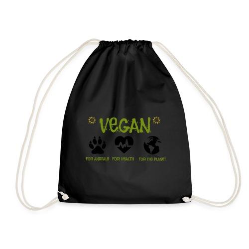 Vegan for animals, health and the environment. - Mochila saco