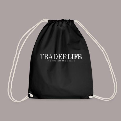 TraderLife Logo White - Drawstring Bag