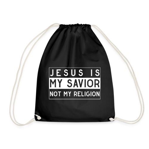 Jesus is my Savior not my Religion - Christlich - Turnbeutel