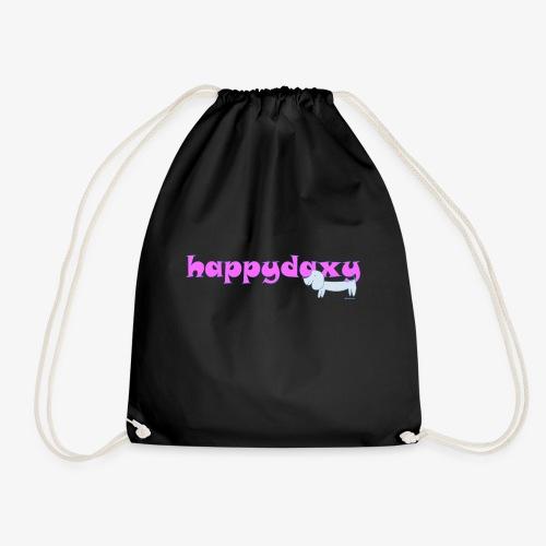 Happy Daxy Pink by Sue Anderson - Drawstring Bag