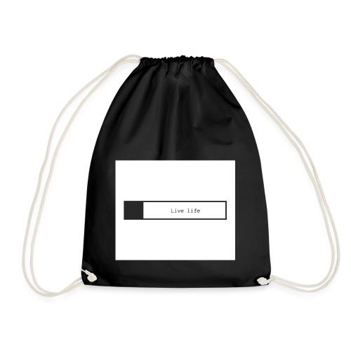Live life shirt - Drawstring Bag