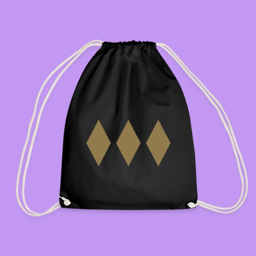 Lord Freeman 3 Lozenge Gold - Drawstring Bag