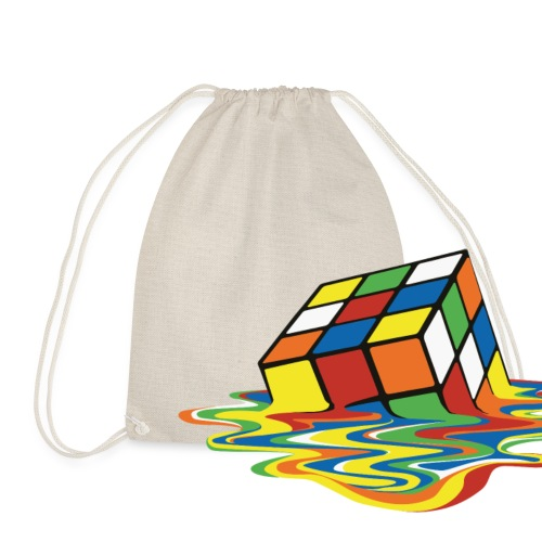 Rubik's Cube Melted Colourful Puddle - Gymnastikpåse
