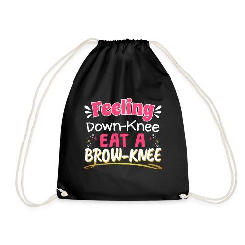 Knee Surgery Feeling Dowknee Eat Browknee - Drawstring Bag