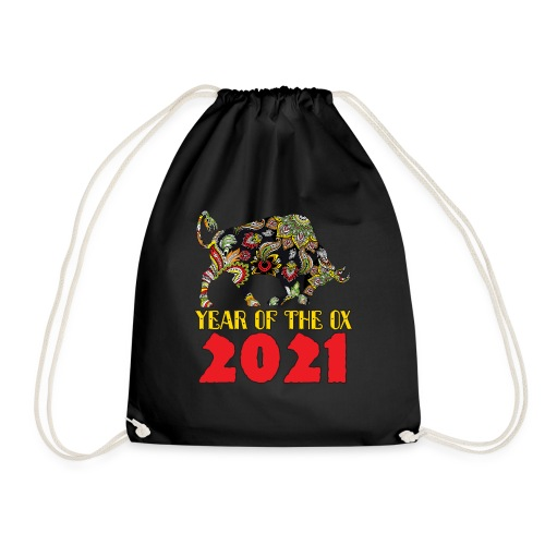 Happy Chinese New Year 2021 - Year Of The Ox - Drawstring Bag