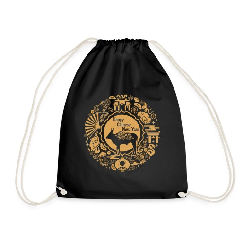 Year of The Ox Chinese Zodiac Lunar New Year - Drawstring Bag