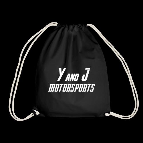 Y and J Motorsports Logo Weiß - Turnbeutel