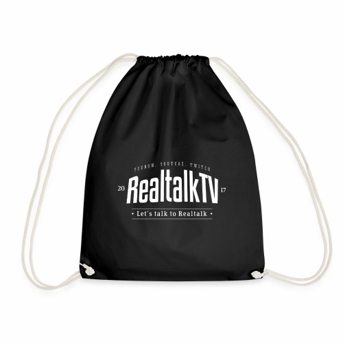 realtalk logo weiss - Turnbeutel