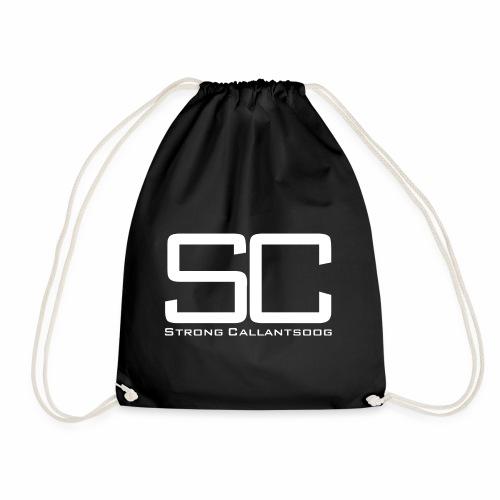 SC Logo Groot WIt - Gymtas
