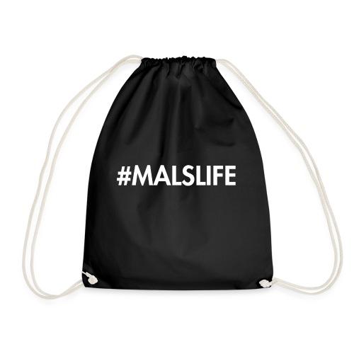#MALSLIFE vrouwen - zwart - Gymtas