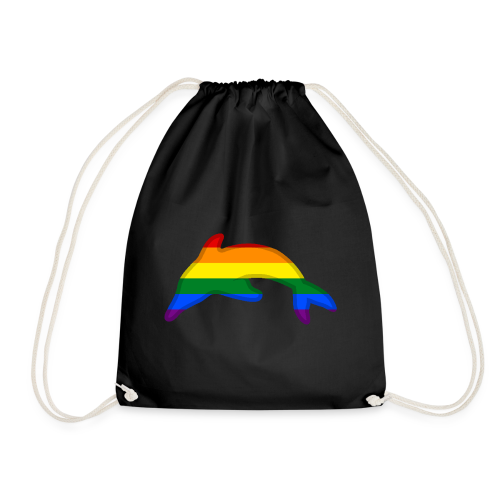 Gay / Rainbow Dolphin - Drawstring Bag