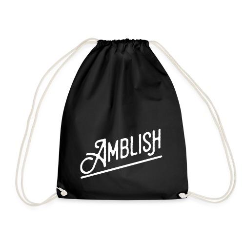 AMBLISH Logo WHITE - Turnbeutel