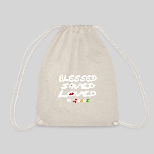 Blessed Saved Loved by Jesus - Turnbeutel