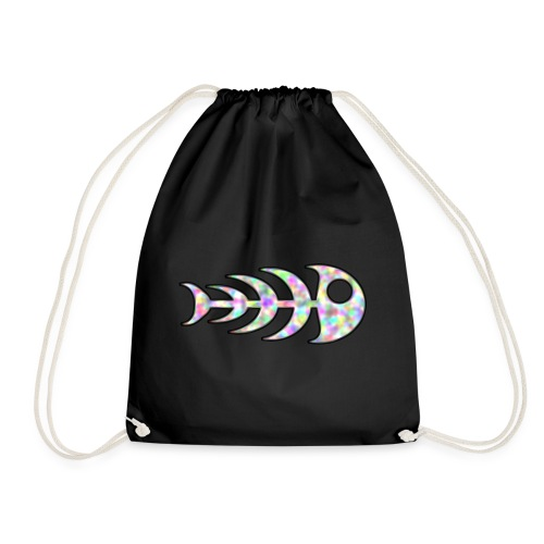 fish legs in rainbow colors - Drawstring Bag